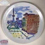 ナルミ飾皿絵皿H.Ogawa