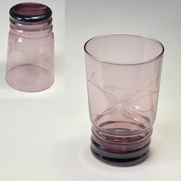昭和レトロ紫ガラスコップR6811