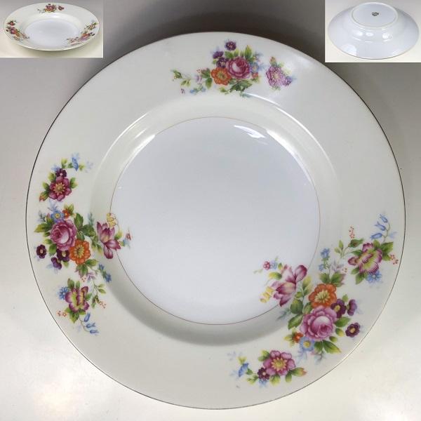 昭和レトロ花柄カレー皿R6825