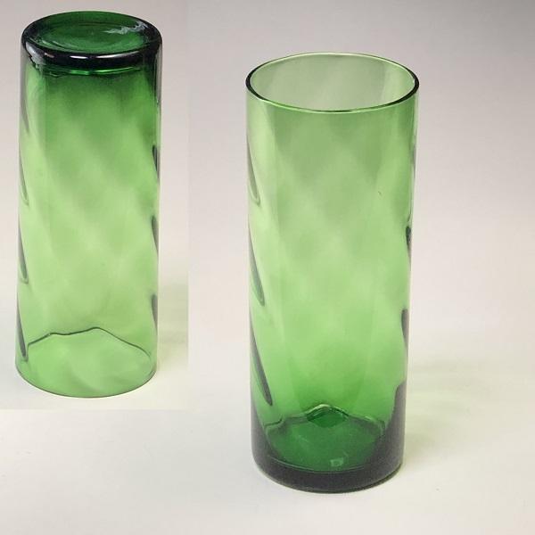 緑ガラスコップR6835