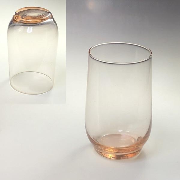 ピンクガラスコップR6878
