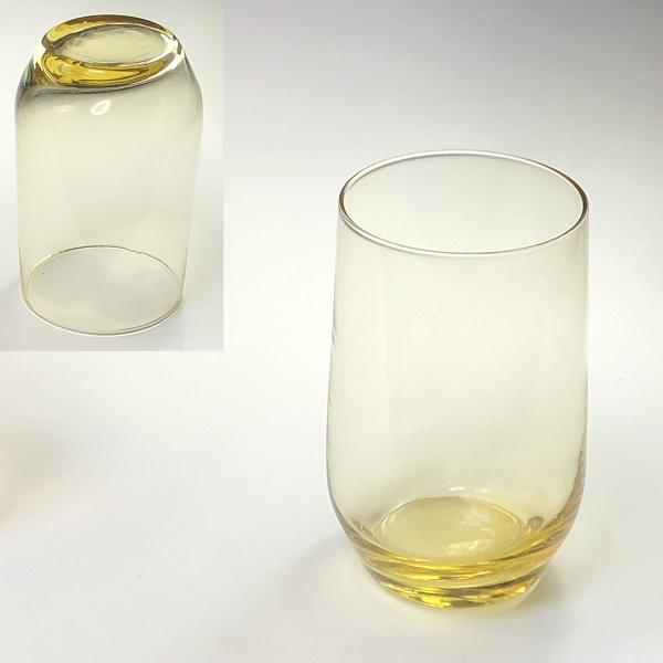 イエローガラスコップR6882