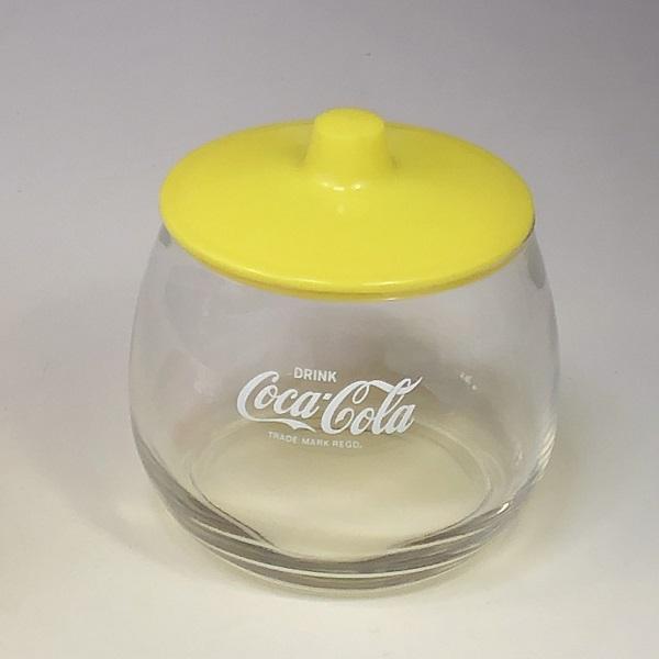 コカコーラガラスポット黄