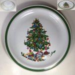 ヤマカクリスマスツリーストーンウェア27cmプレートR6917