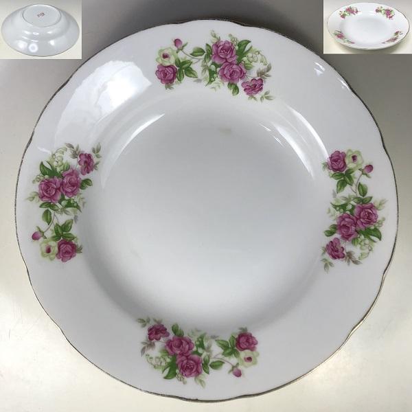 昭和レトロ花柄薔薇柄カレー皿R6947