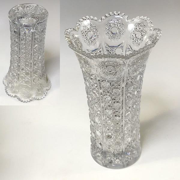 アデリア石塚硝子クリスタルガラス花瓶