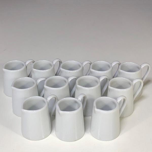 陶器製一人用クリーマー12個セット