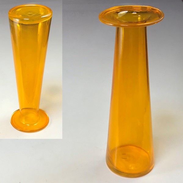 イエローガラス花瓶R6986
