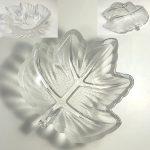 楓型ガラス小皿