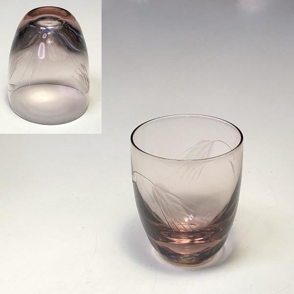 紫ガラスショットグラス冷酒グラス