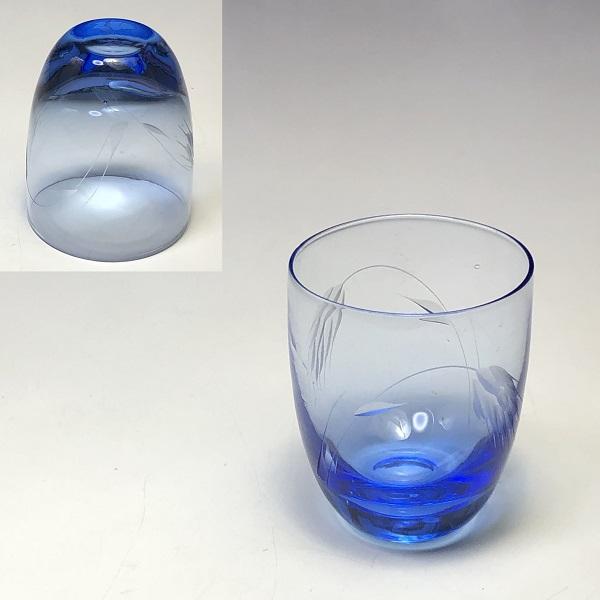 青ガラスショットグラス冷酒グラス