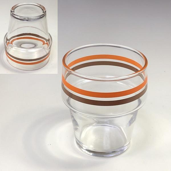 アデリアグラスハニーストライプガラスコップ
