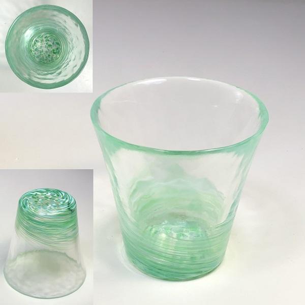 琉球ガラスコップR7153