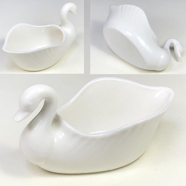 陶磁器製白鳥クリーマーR7168