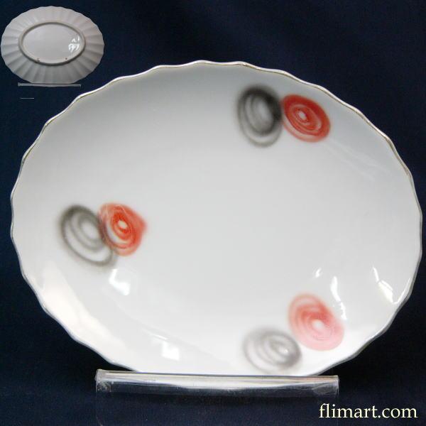 昭和レトロプレート皿楕円オーバルプレート小皿