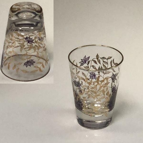 昭和レトロガラスコップR6493