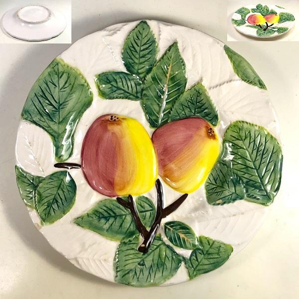 浮彫フルーツリンゴ飾皿R7356