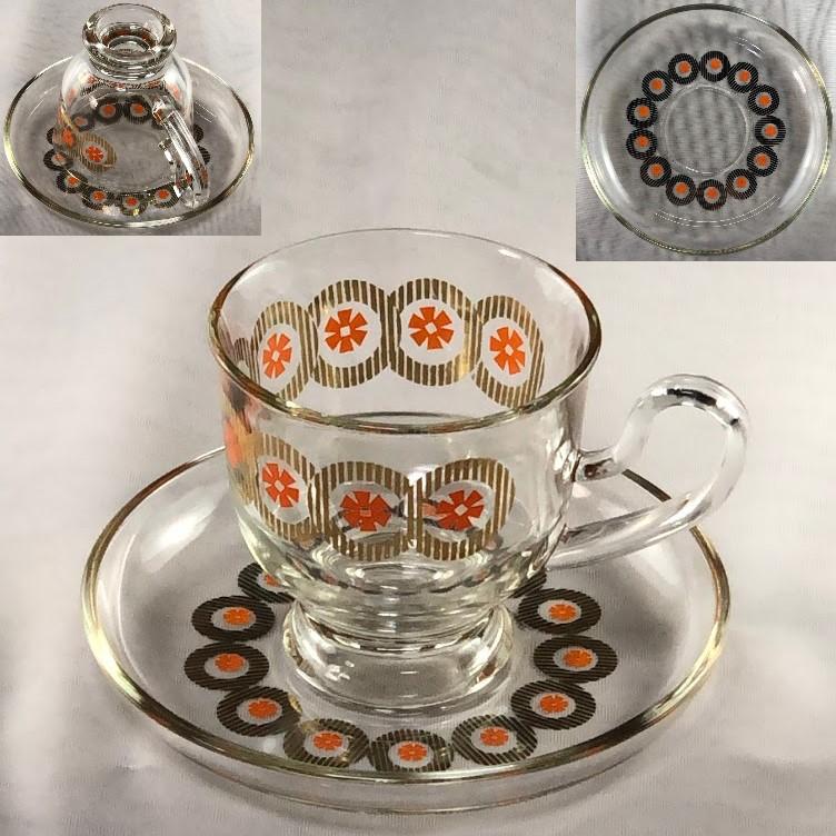 ガラスカップ&ソーサーR6382