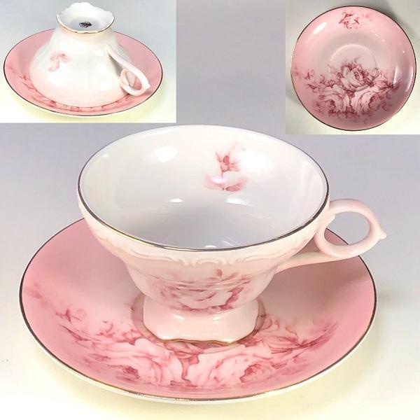 花柄薔薇柄カップ&ソーサーR7361