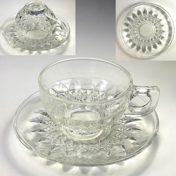 ガラスカップ&ソーサーR7370