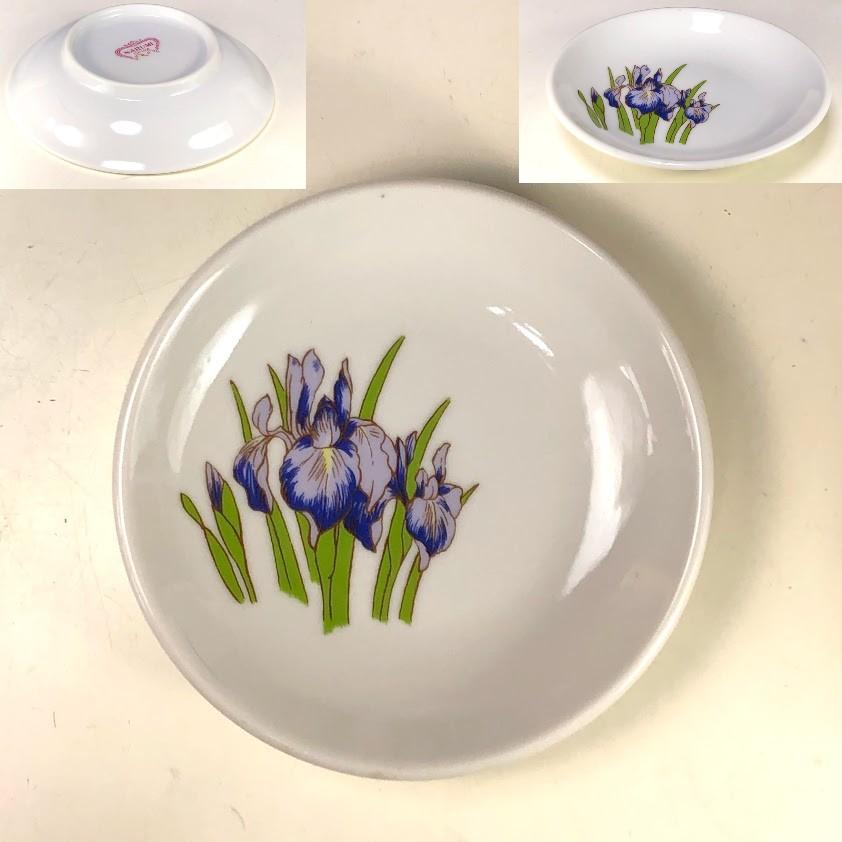 ナルミ菖蒲柄小皿