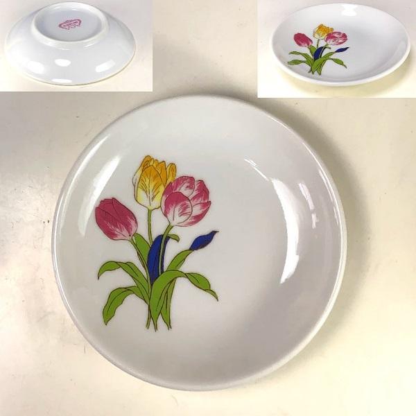 ナルミチューリップ柄小皿