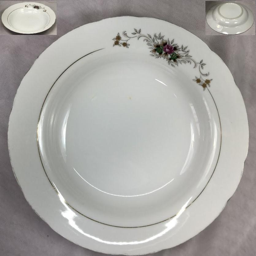 昭和レトロ花柄スープ皿R6386