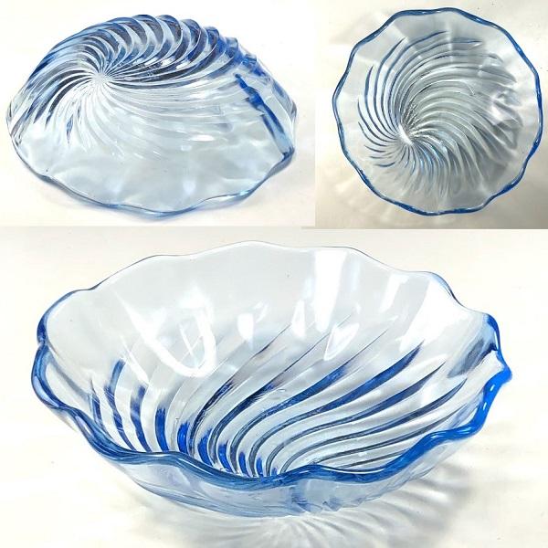 青ガラス14.5cm小鉢R7462