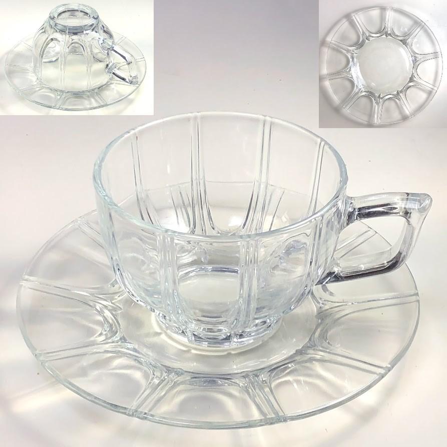 ガラスカップ&ソーサーR7484