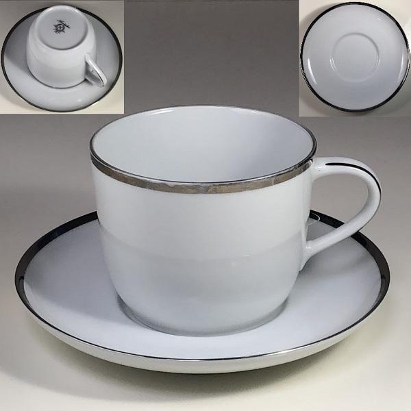 ノリタケモーニングカップ&ソーサー銀
