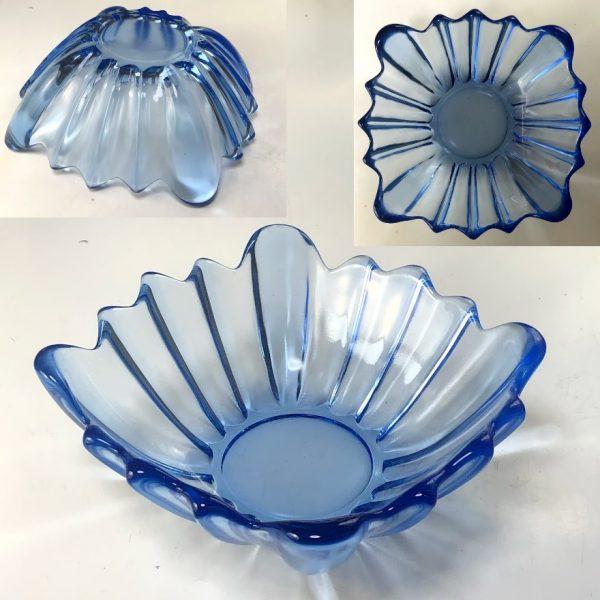 青ガラススクエアボウルR7523