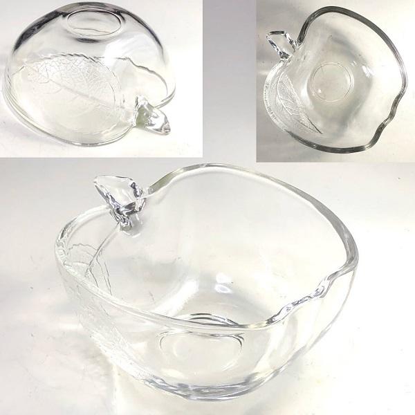 リンゴ型ガラス小鉢R7519
