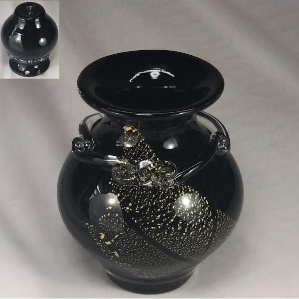 昭和レトロガラス花瓶R6399