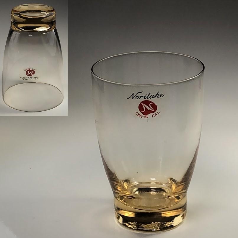 ノリタケクリスタルガラスコップオレンジR6518