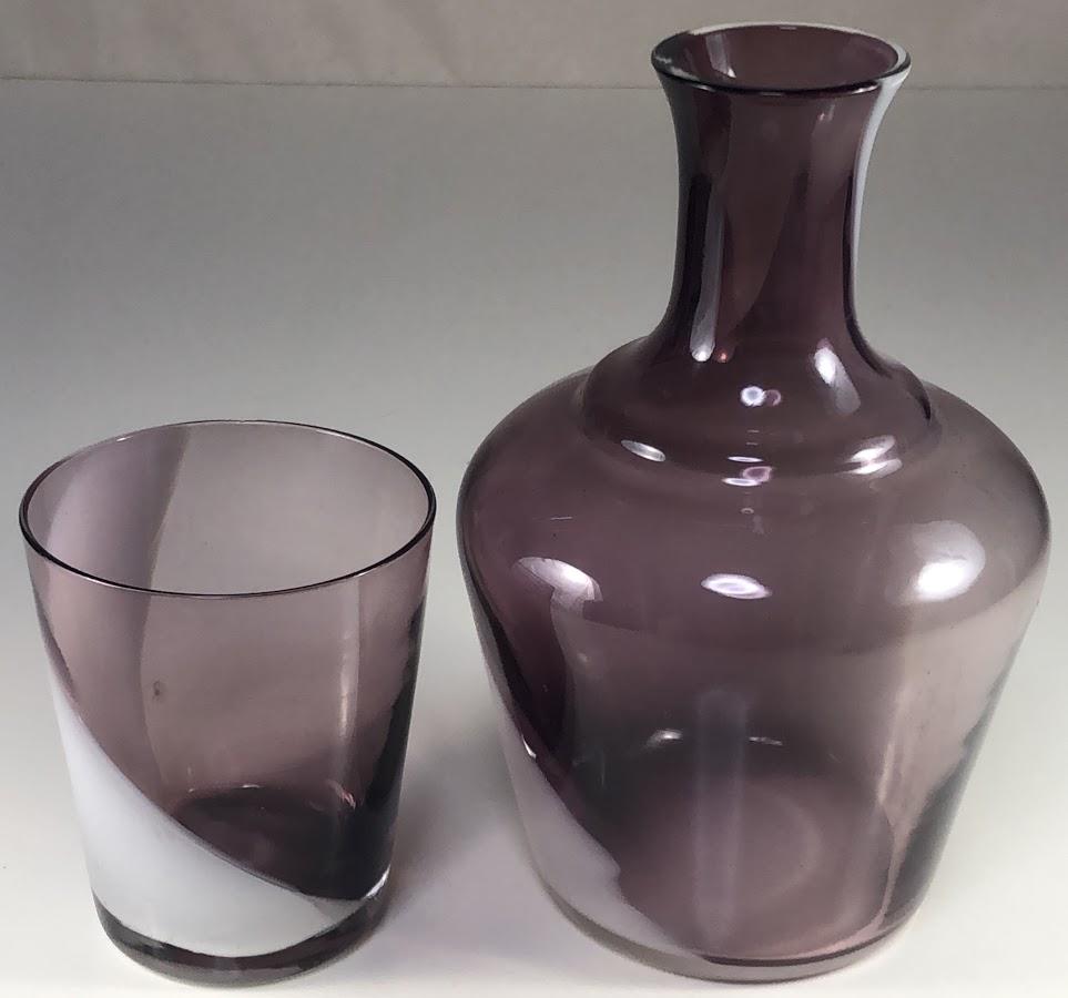昭和レトロ紫ガラス水差しR6521