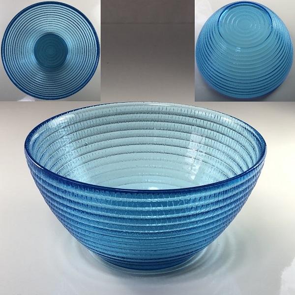 青ガラスボウルR6533