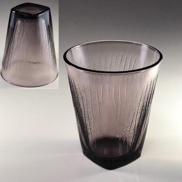 紫ガラスコップR6535