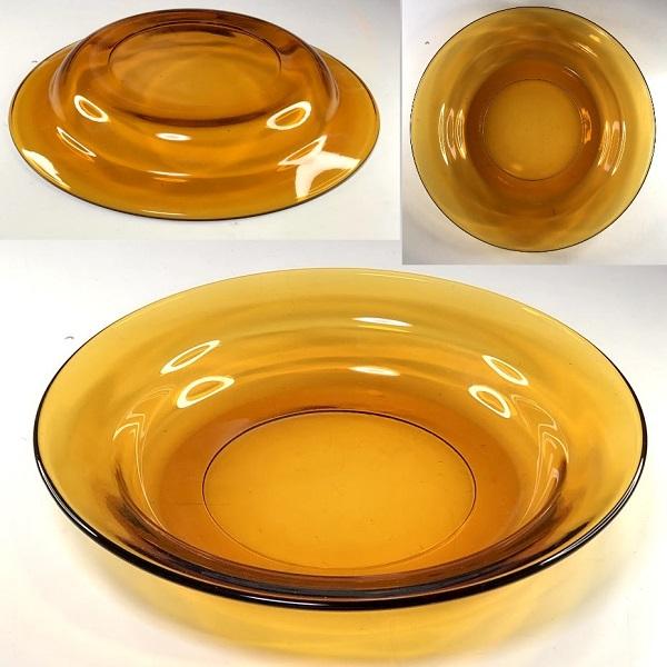 飴色ガラス22cmシチュー皿