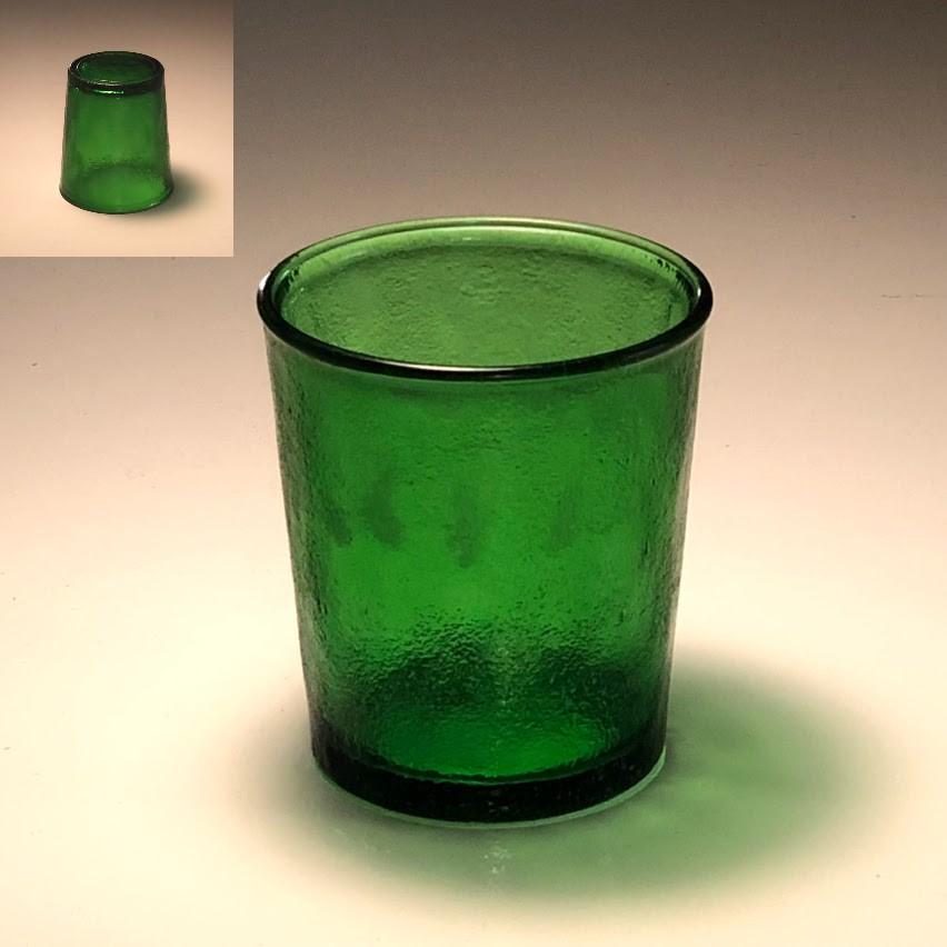 緑ガラスコップR6165