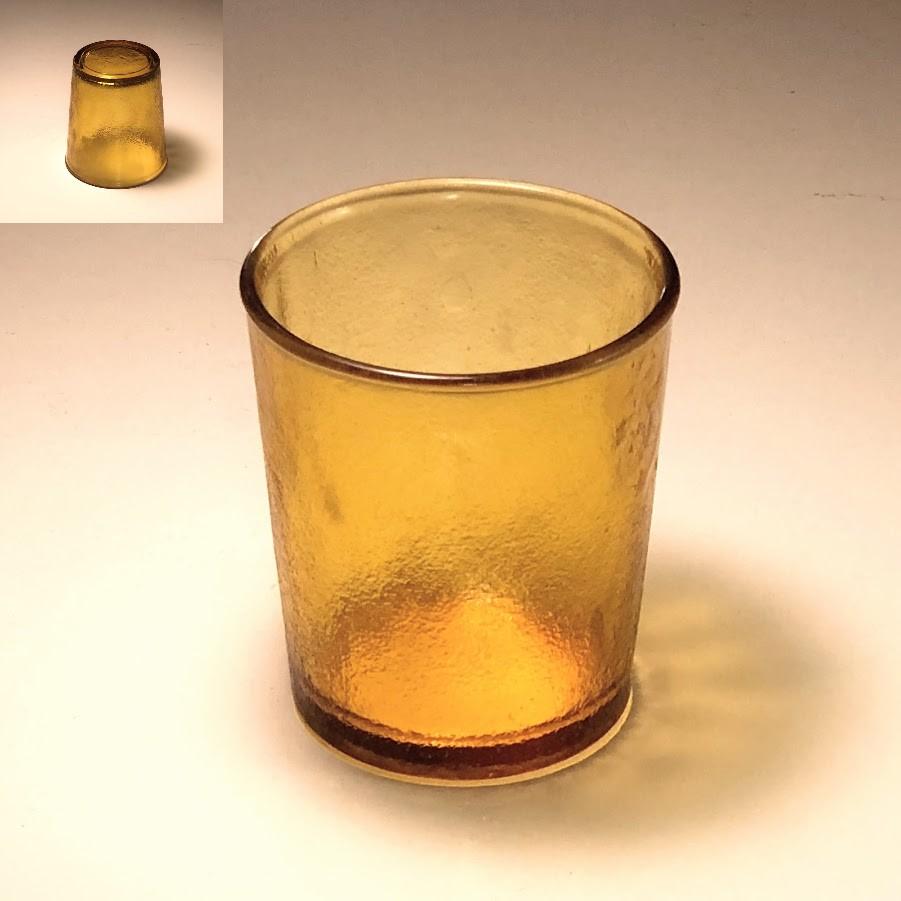 飴色ガラスコップR6167