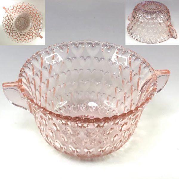 ピンクガラスボウルR7603