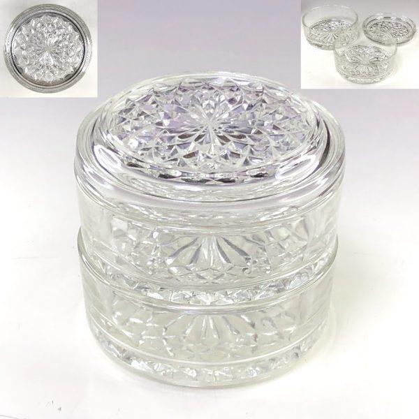 ガラス二段重R7604