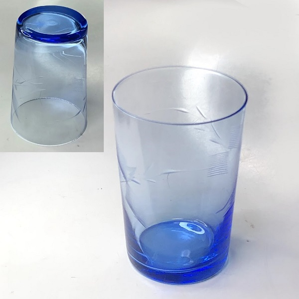 青ガラスコップR7617