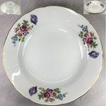 昭和レトロKJ花柄カレー皿