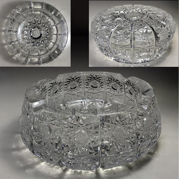 ボヘミアクリスタル灰皿R6546