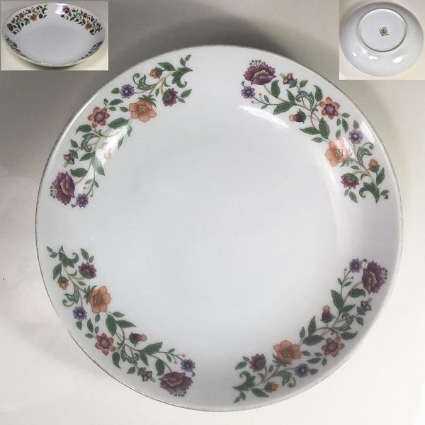 昭和レトロ花柄スープ皿R6554