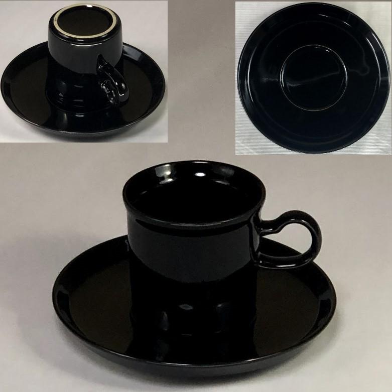 黒カップ&ソーサーR6276