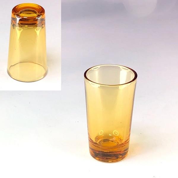 飴色ガラスショットグラスR7726