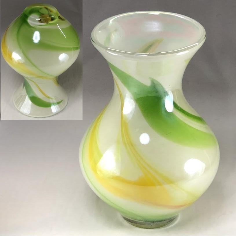 昭和レトロガラス花瓶R6289