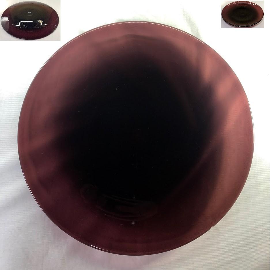 紫ガラス30cmプレートR6301